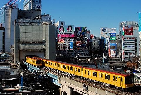 東京メトロ1000系@渋谷'14.12.15