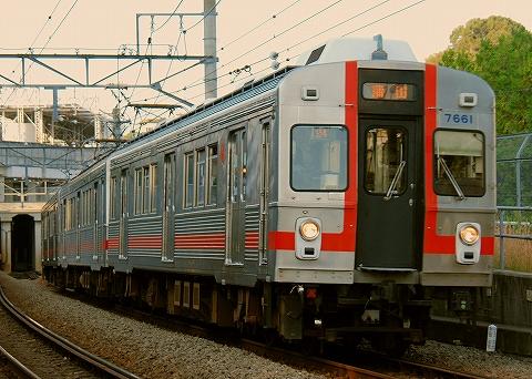 東急7600系@多摩川'11.1