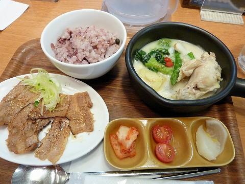 サムギョプサルと参鶏湯定食@Vegeけなりぃ'15.3.15