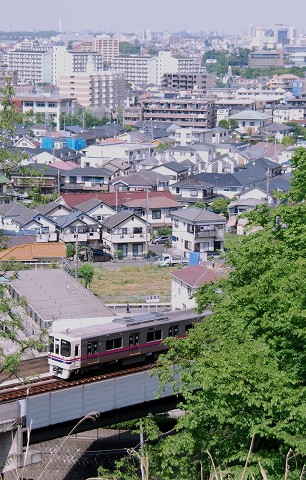 京王9000系@京王稲田堤'15.4.29