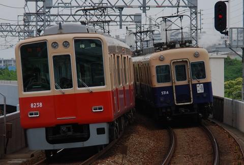 阪神5311形&8000系@大物'09.5
