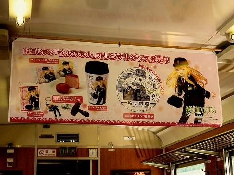 桜沢みなの吊り広告@パレオ車内'15.5.30