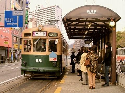 広電551@横川駅前'02.1