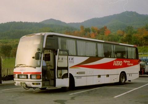 京王バス@諏訪湖サービスエリア'93.10