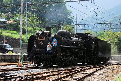 秩父鉄道C58363@三峰口'15.8.16-1