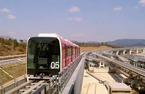 愛知高速鉄道100形@万博会場'05.3