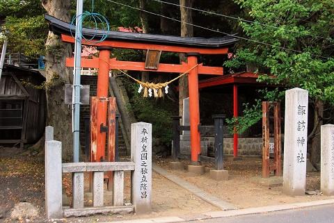 諏訪神社鳥居'15.9.24
