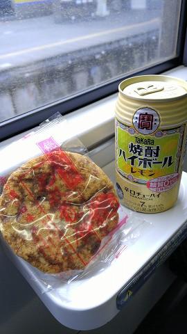 濡れ煎餅&チューハイ'15.9.26