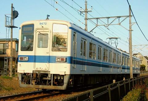 東武8000系@西小泉'16.1.3