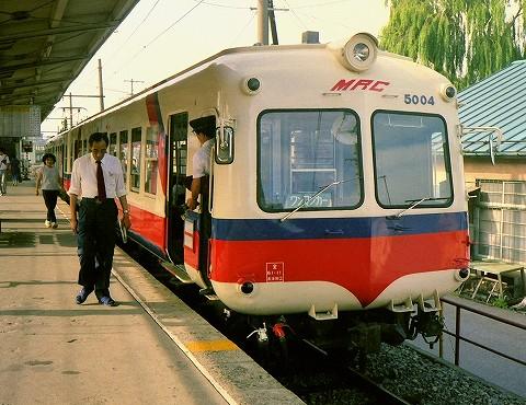 松本電鉄5004@松本'87.7
