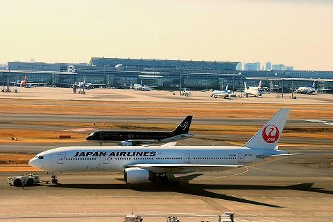 7Gairbus320ー200&JLboeing777‐200@羽田空港'16.2.11