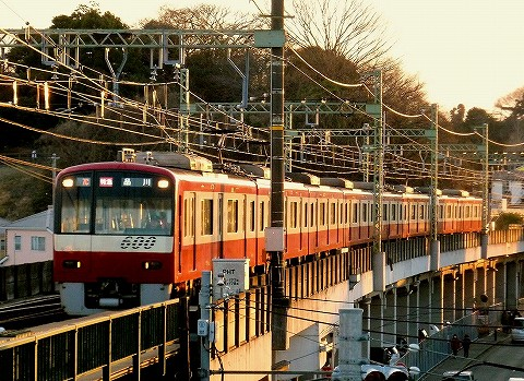 京急600形@三浦海岸'16.2,26