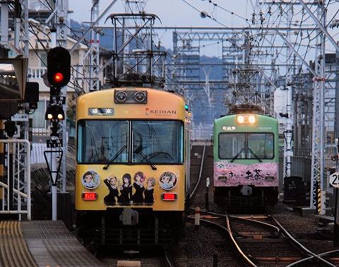 京阪600形@近江神宮前'16.3.18-1