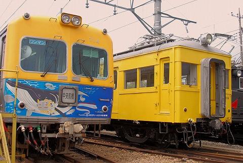 上毛電鉄700型&デハ104号@大胡電車庫'16.4.24
