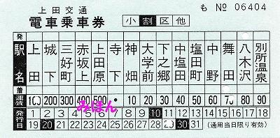 上田交通車内補充券'16.4.29
