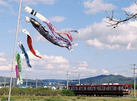 上田電鉄6000系@舞田'16.4.29