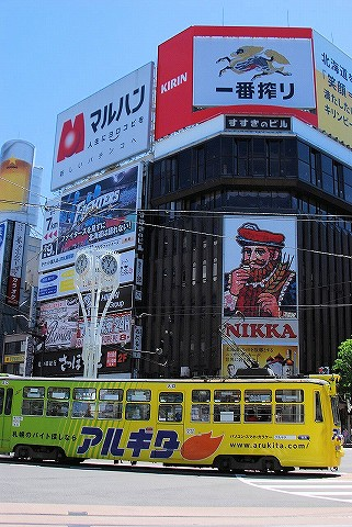 札幌市電250形@すすきの'16.6.5