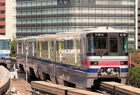大阪モノレール1000系@千里中央'16.7.19