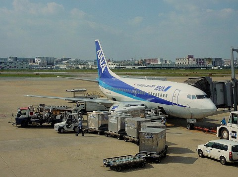 NHboeing737‐500@福岡空港'16.11.3