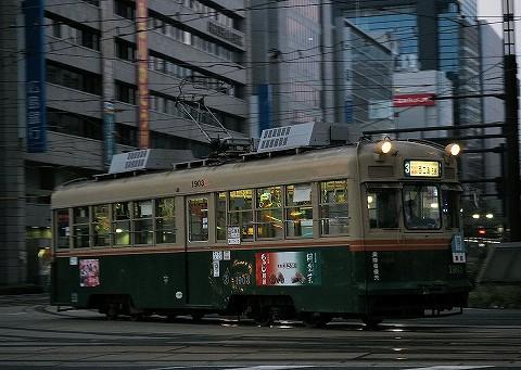 広島電鉄1900形@紙屋町'16.11.4