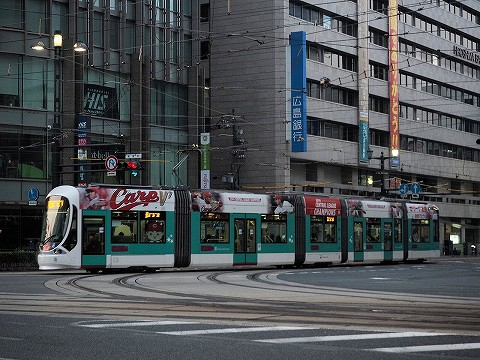 広島電鉄5100形@紙屋町'16.11.4