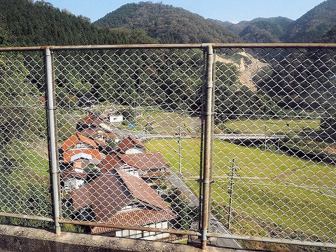 宇都井駅からの眺め'16.11.4