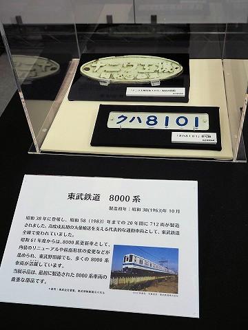 東武8101Fナンバープレート@千葉県立現代産業科学館'16.11.26