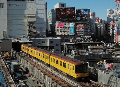 東京メトロ1000系@渋谷'16.12.8