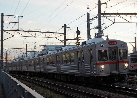 東急7700系@雪が谷大塚'16.12.8