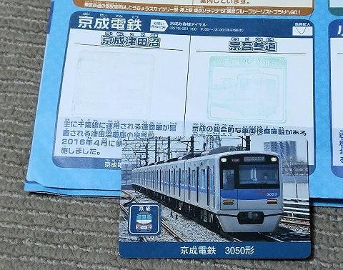 私鉄10社スタンプラリー景品@京成