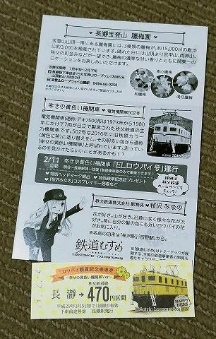 ロウバイ観賞記念乗車券