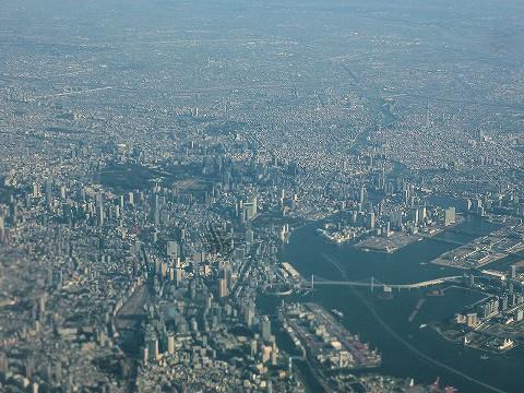 東京上空@JL307便'17.2.26