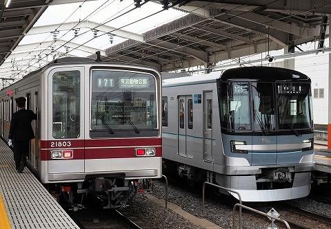 東武20000系&東京メトロ13000系@草加'17.4.1
