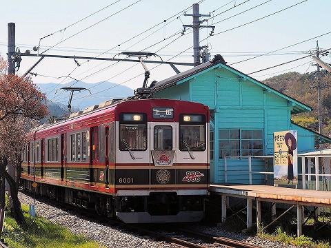 上田電鉄6000系@八木沢'17.4.23