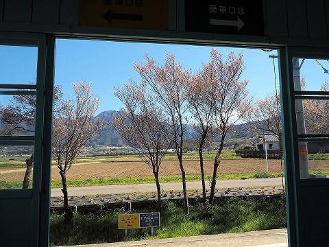 待合室からの風景@八木沢'17.4.23
