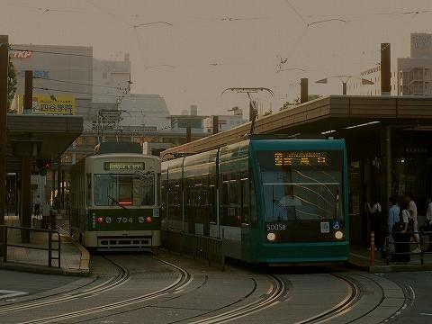 広島電鉄700形&5000形@広島駅'17.6.9