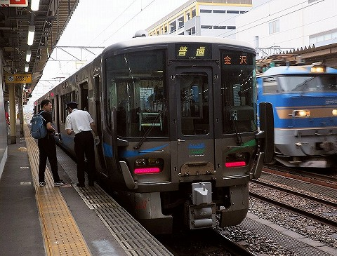 あいの風とやま鉄道クモハ521‐23@高岡'17.7.29