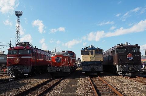 機関車展示@ふれあい鉄道フェスティバル'17.11.11