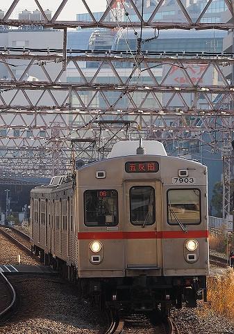 東急7700系@蒲田'17.12.16