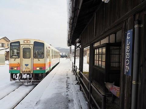 山形鉄道YR887@西大塚'17.12.20