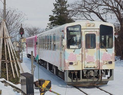 山形鉄道YR880形@長井'17.12.20