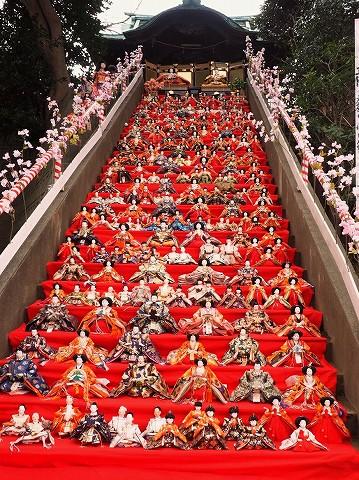 大雛段飾り@愛宕神社'18.2.25