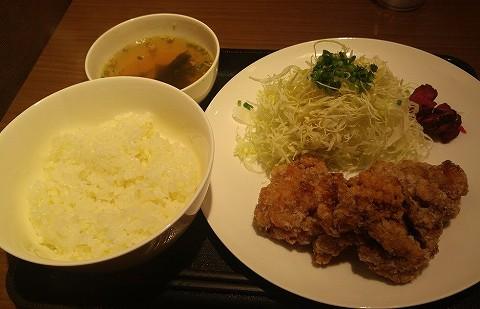 唐揚げ定食@はなまるランチ研究所'18.3.2