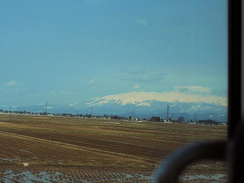 鳥海山@きらきらうえつ車窓'18.3.11