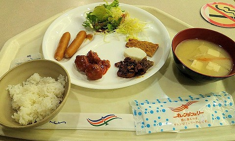 朝食@オレンジフェリー船内'18.3.26