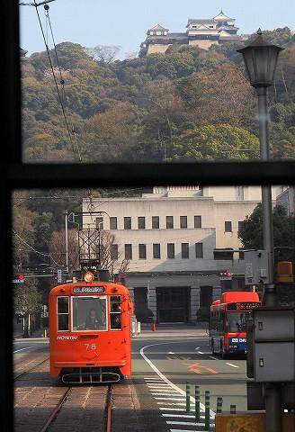 伊予鉄道モハ50形@市役所前'18.3.26