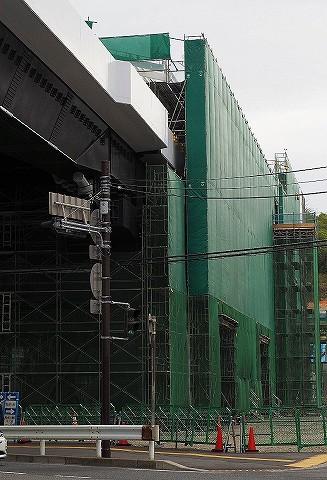 シーサイドライン延伸区間工事現場@金沢八景'18.4.7