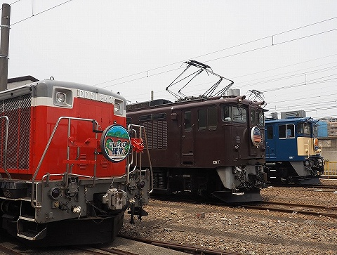 機関車展示@鉄道ふれあいフェア'18.5.26