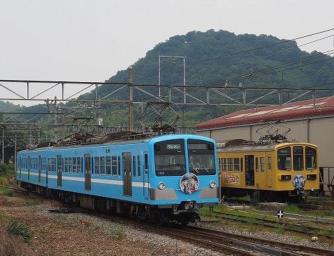 近江鉄道100形&800系@彦根'18.6.26