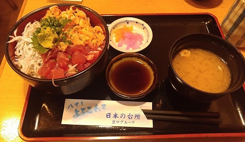 海鮮丼@日本海庄や'18.8.18
